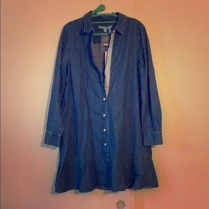 Draper James Chambray Tulip Shirt dress size 8 NWT